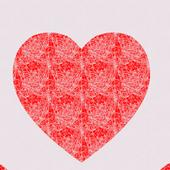 ハートと幾何学模様のライブ壁紙 無料版 Free icon