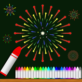 Fireworks drawing icon