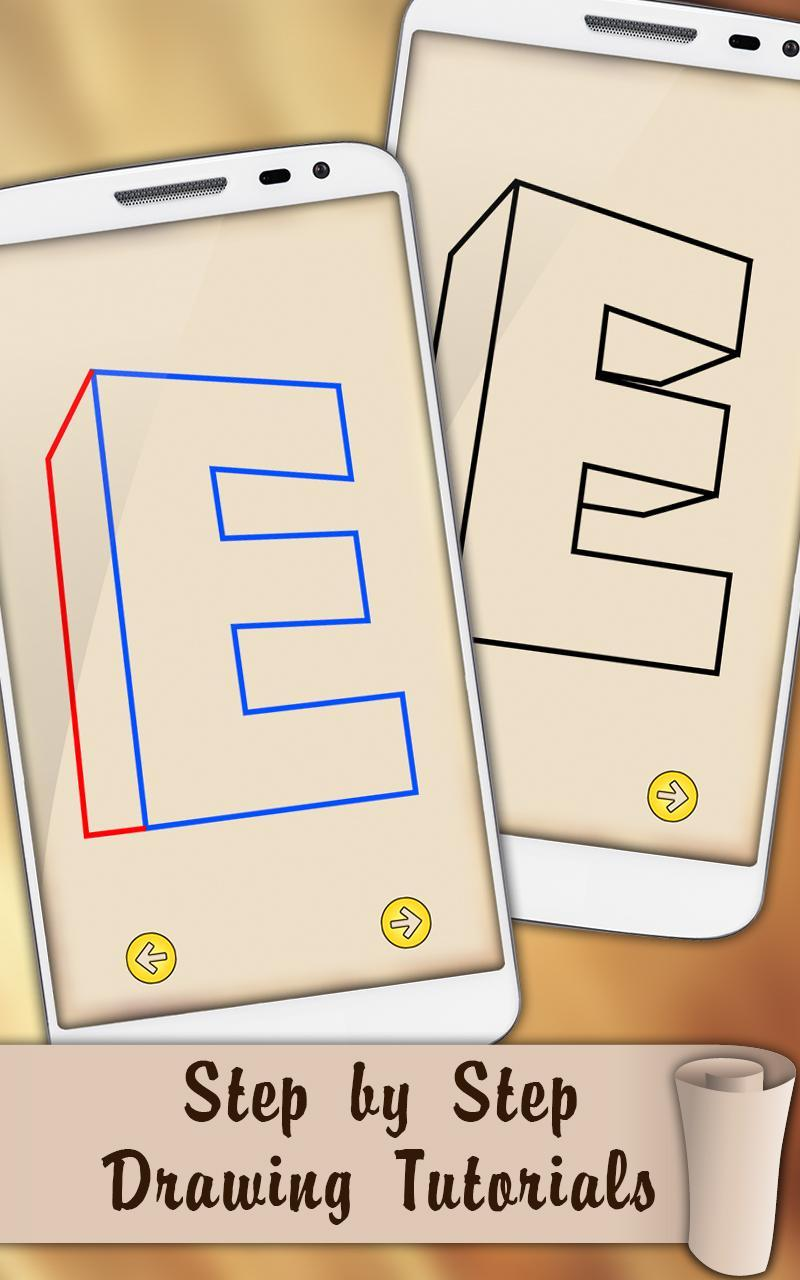 Draw 3D Letters for Android - APK Download
