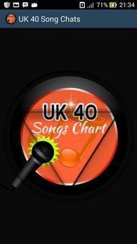 UK 40 Song Charts poster