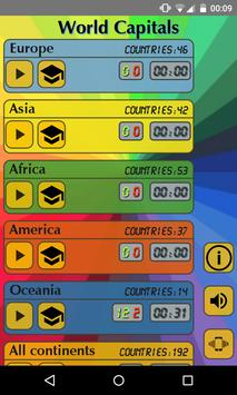 World Capitals (Quiz). Educational game. poster