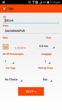 Vgo  Cabs apk screenshot