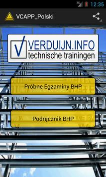 VCAPP in Polish language poster