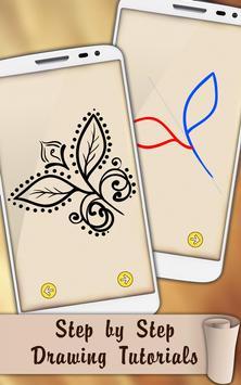Draw Mehndi Henna Tattoo screenshot 2