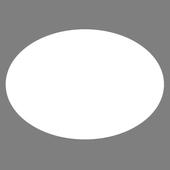 White Oval icon