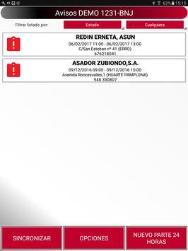 DAPartes Pruebas screenshot 1