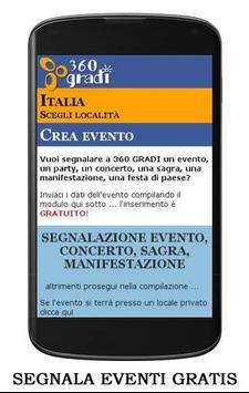 360 GRADI locali e eventi screenshot 6