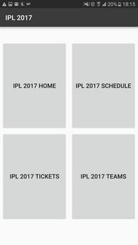 Info and schedule for IPL 2017 poster