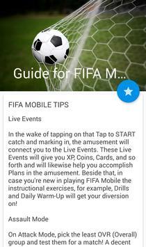 Руководство для FIFA Mobile screenshot 2