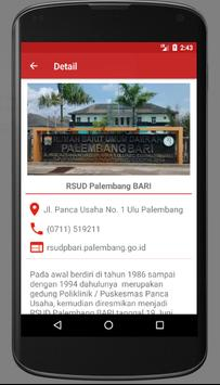 Info Rumah Sakit Palembang screenshot 1