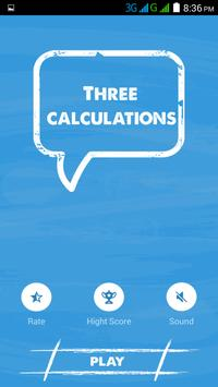 Three Calculations - Fast Math poster