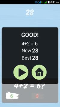 Three Calculations - Fast Math apk screenshot