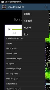 Bon Jovi Hits - Mp3 apk screenshot