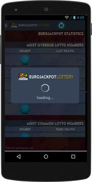 Results for EuroJackPot Lottery poster