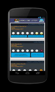 Results for Euromillion lottery poster