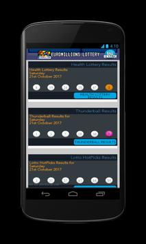 Results for Euromillion lottery screenshot 1