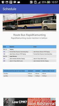 Jadwal - Bus Rapid Kamunting screenshot 3