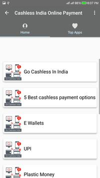 Cashless India/Online Payment poster