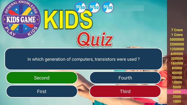 Play Quiz with KIDS स्क्रीनशॉट 5