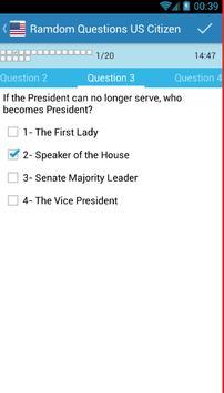 US Citizenship Test 2016 apk screenshot