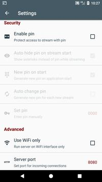 Screen Stream over HTTP apk screenshot