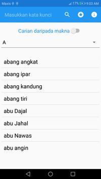 eKamus 马来成语与谚语词典 स्क्रीनशॉट 2