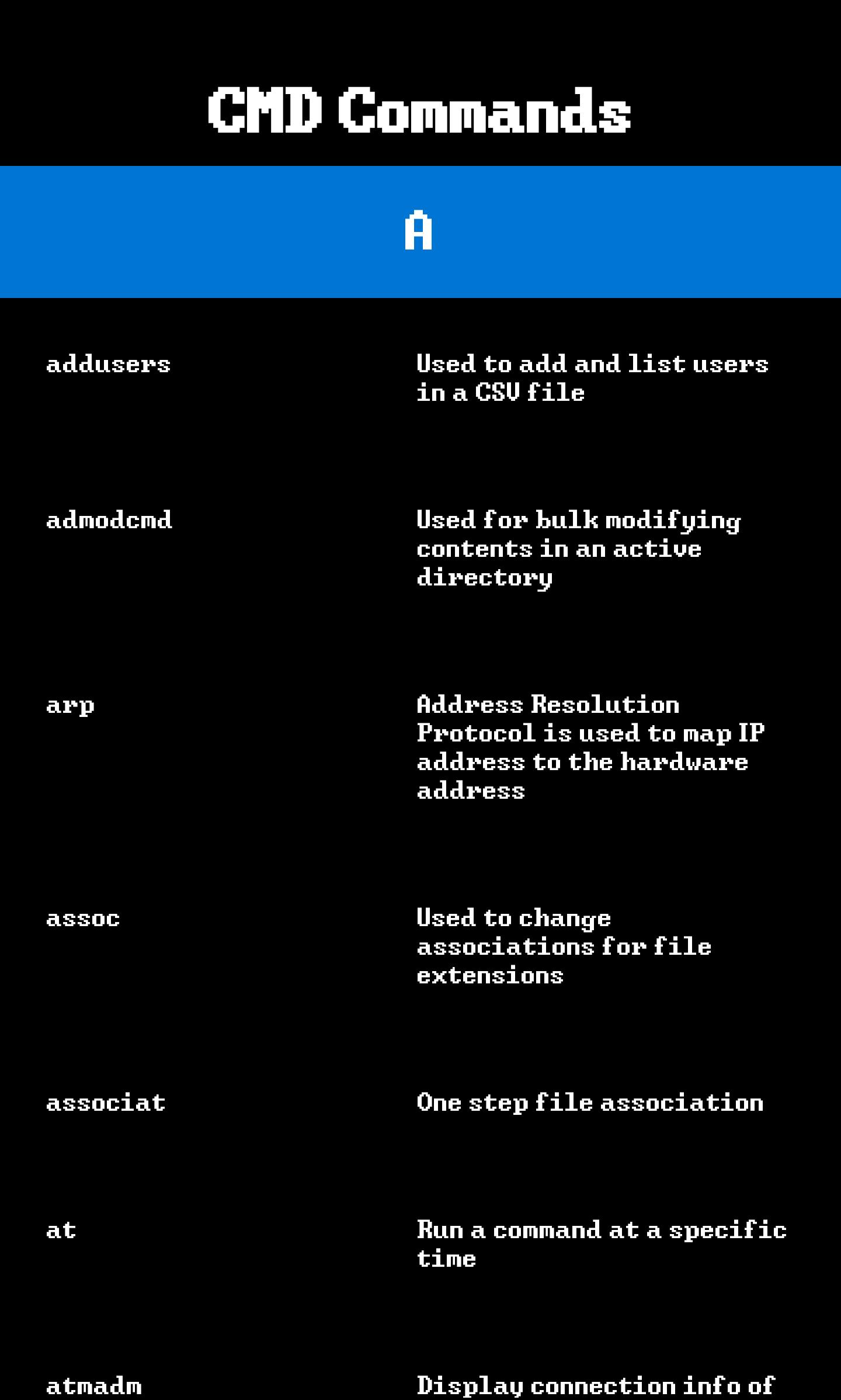 CMD Command List for Android - APK Download