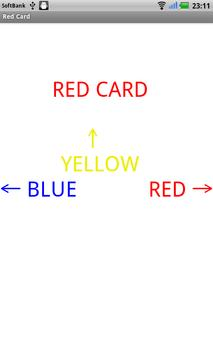 RED Card (flick version) apk screenshot