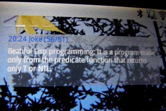 Lisp Joke Widget apk screenshot