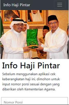 Info Haji Pintar - Cek Porsi Haji Indonesia screenshot 1