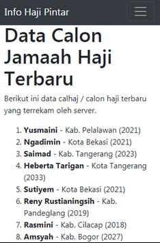 Info Haji Pintar - Cek Porsi Haji Indonesia apk screenshot