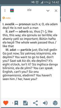 Azerbaijani English dictionary apk screenshot