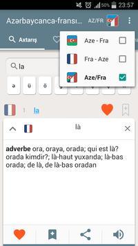 French-Azerbaijani dictionary screenshot 1