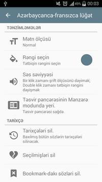 French-Azerbaijani dictionary screenshot 6