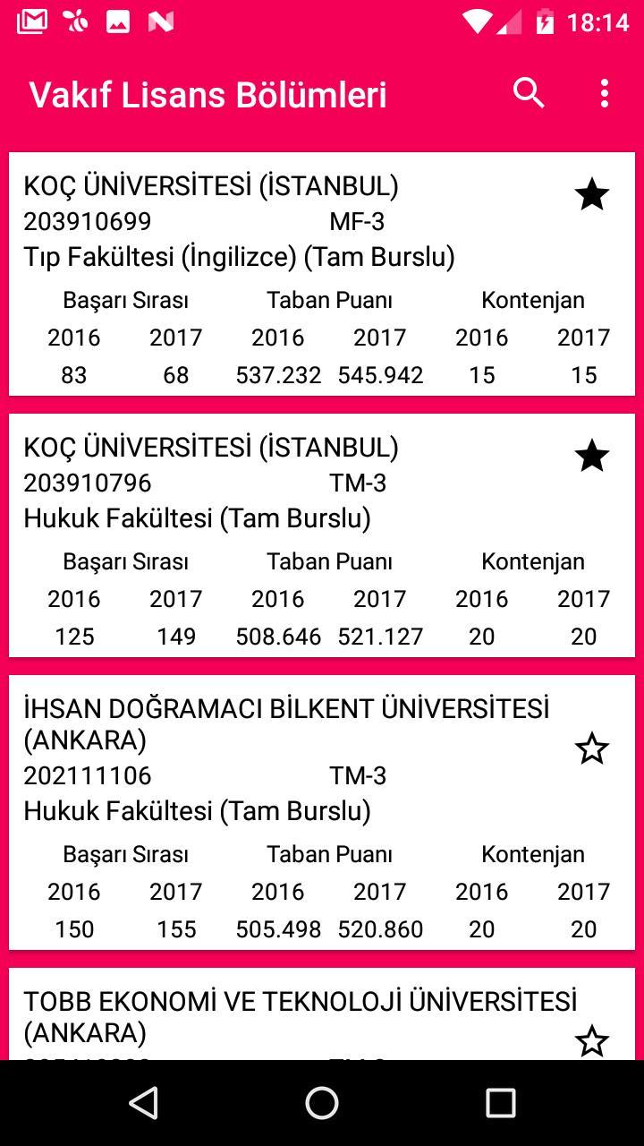 Universite Taban Puanlari 2017 For Android Apk Download