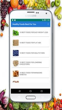 Healthy Foods Best For You poster