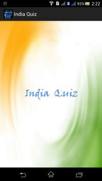 India Quiz poster