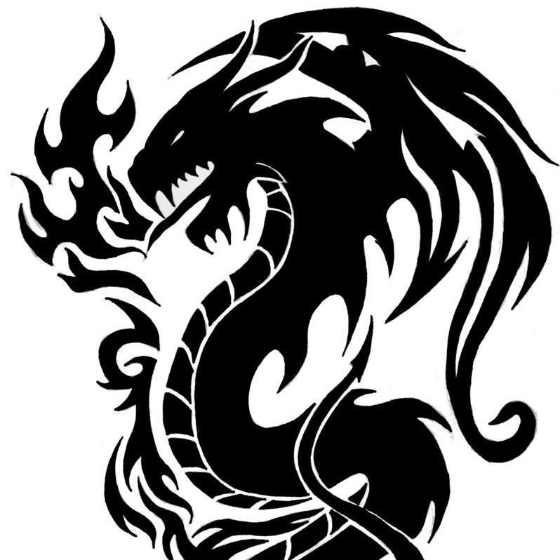 картинки узор дракон все потому