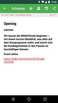 MRMCD 2018 Programm screenshot 1