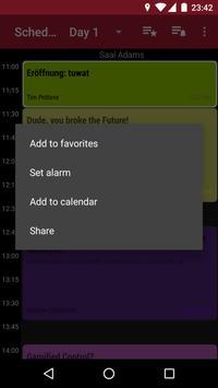 34C3 Schedule screenshot 3