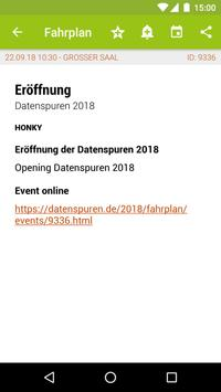 Datenspuren 2018 Programm screenshot 1