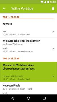 Datenspuren 2018 Programm screenshot 3