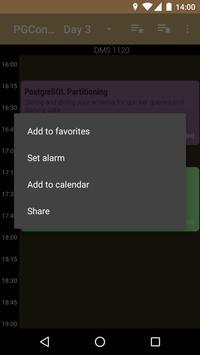 PGCon 2018 Schedule apk screenshot