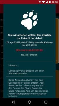 taz lab 2018 Fahrplan apk screenshot