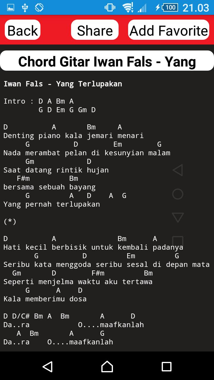 Koleksi Chord Gitar Iwan Fals For Android Apk Download