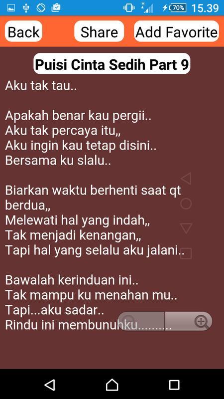 Puisi Cinta Sedih Dan Galau For Android Apk Download