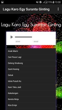 Lagu Karo Egy Suranta Ginting screenshot 1