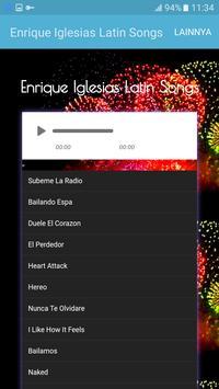 Enrique Iglesias Latin Songs apk screenshot