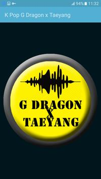 K Pop G Dragon x Taeyang poster