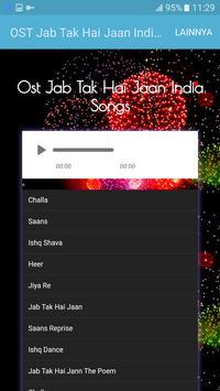 OST Jab Tak Hai Jaan India Songs apk screenshot
